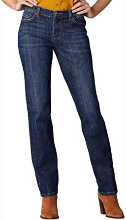 LEE womens 30518 Relaxed Fit Straight Leg Jean Jeans - Blue - 16