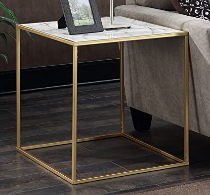Amazoncom Convenience Concepts Gold Coast Faux Marble End Table