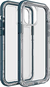 LifeProof Next Amplify The Action, Clear and Slim DropProof, DustProof and Snowproof Case for Apple iPhone 12/12 Pro - Clear/Blue