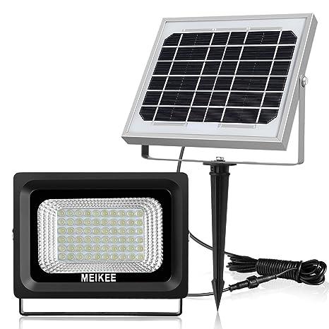 Foco solar exterior, MEIKEE led luz solar de jardín de 300lm, 60 leds,