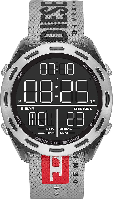 Diesel Reloj para Hombre de Digital con Correa en Silicona
