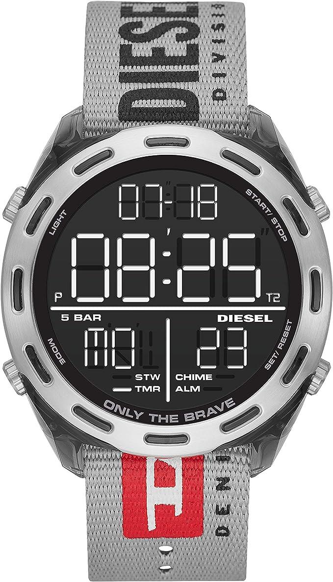 Diesel Reloj Hombre de Digital con Correa en Nailon DZ1894: Amazon.es: Relojes