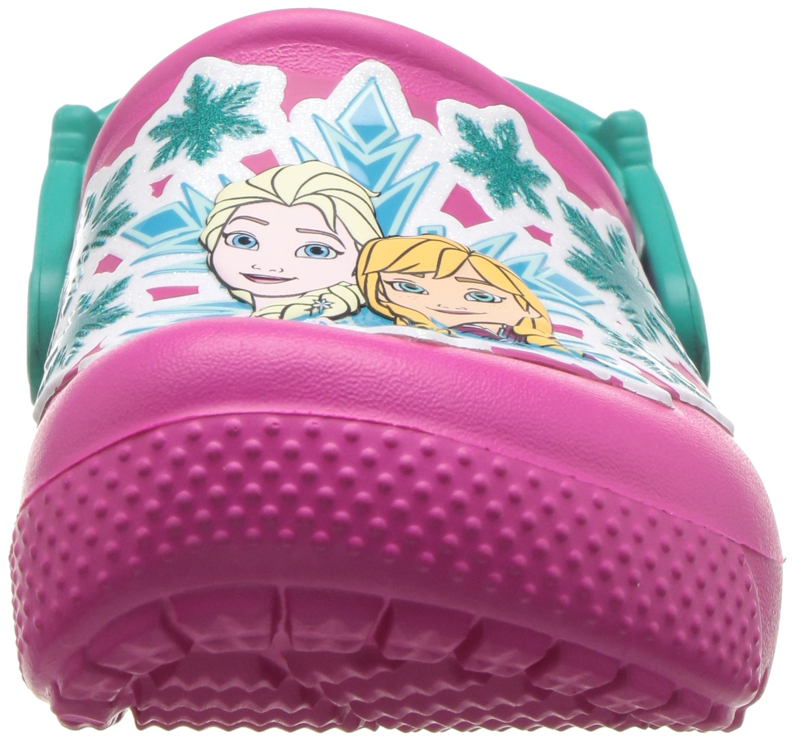 Crocs Girls' Fun Lab Frozen Clog K, Candy Pink, 10 M US Little Kid by Crocs (Image #4)