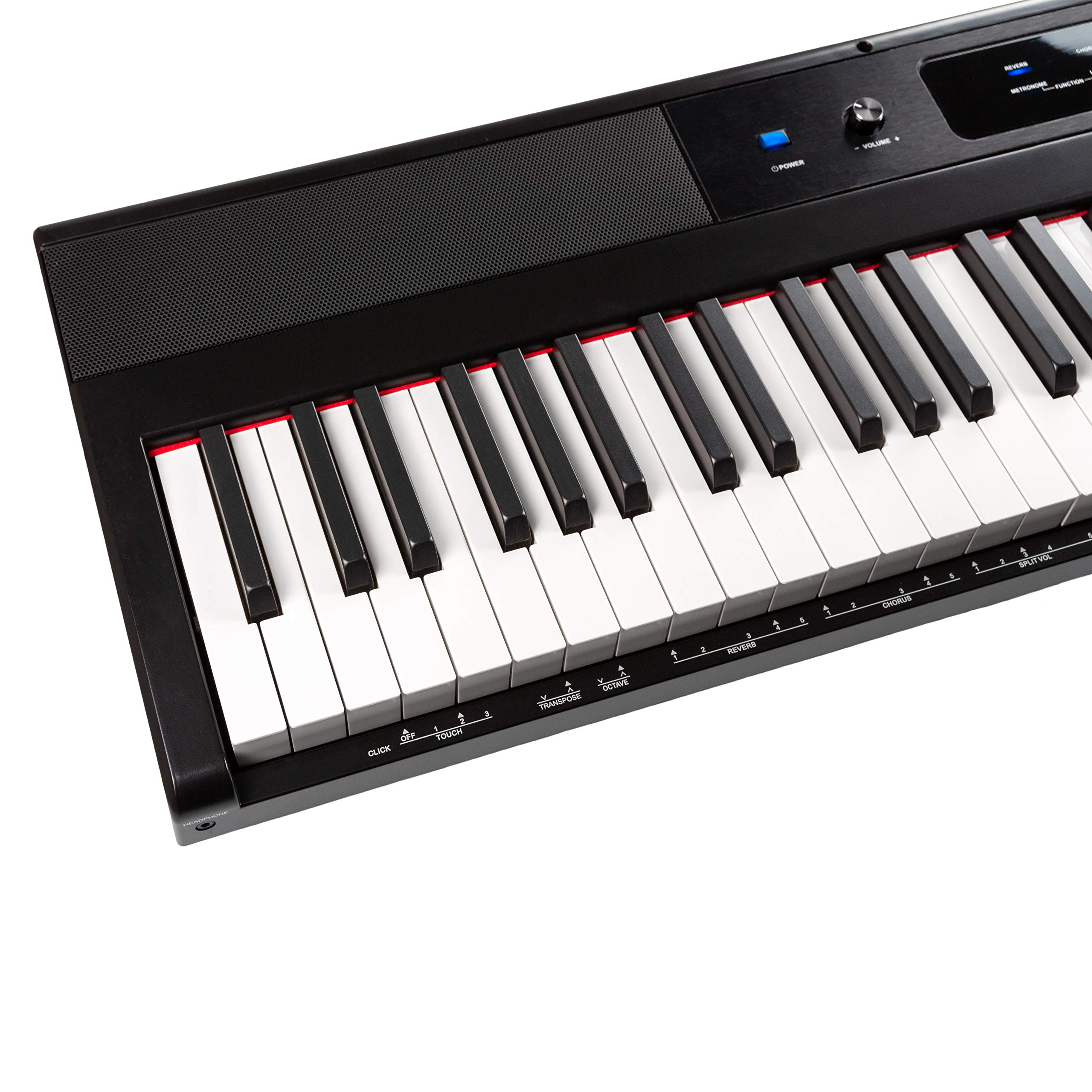 RockJam 88-Key Beginner Digital Piano with Full-Size Semi-Weighted Keys, Power Supply, Simply Piano App Content & Key Note Stickers by RockJam (Image #9)