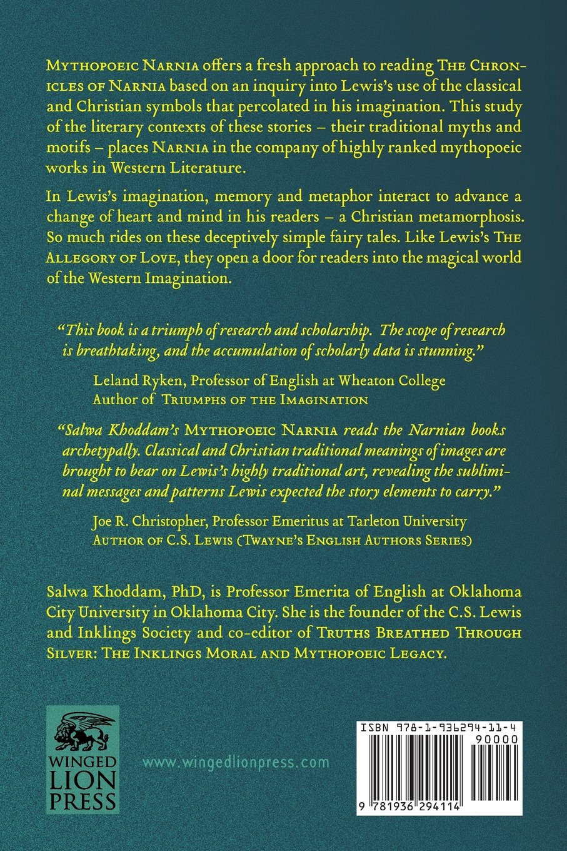 com mythopoeic narnia memory metaphor and metamorphoses com mythopoeic narnia memory metaphor and metamorphoses in the chronicles of narnia 9781936294114 salwa khoddam books