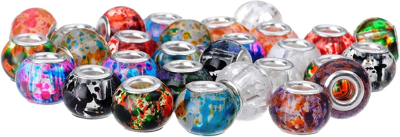 Wholesale European Murano glass beads silver charm bracelet Boîte cadeau PXB026