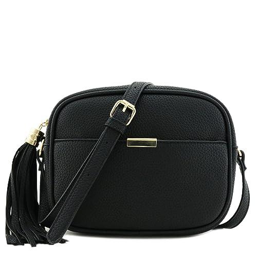 092f4a216a17 Square Tassel Crossbody Bag Black  Handbags  Amazon.com