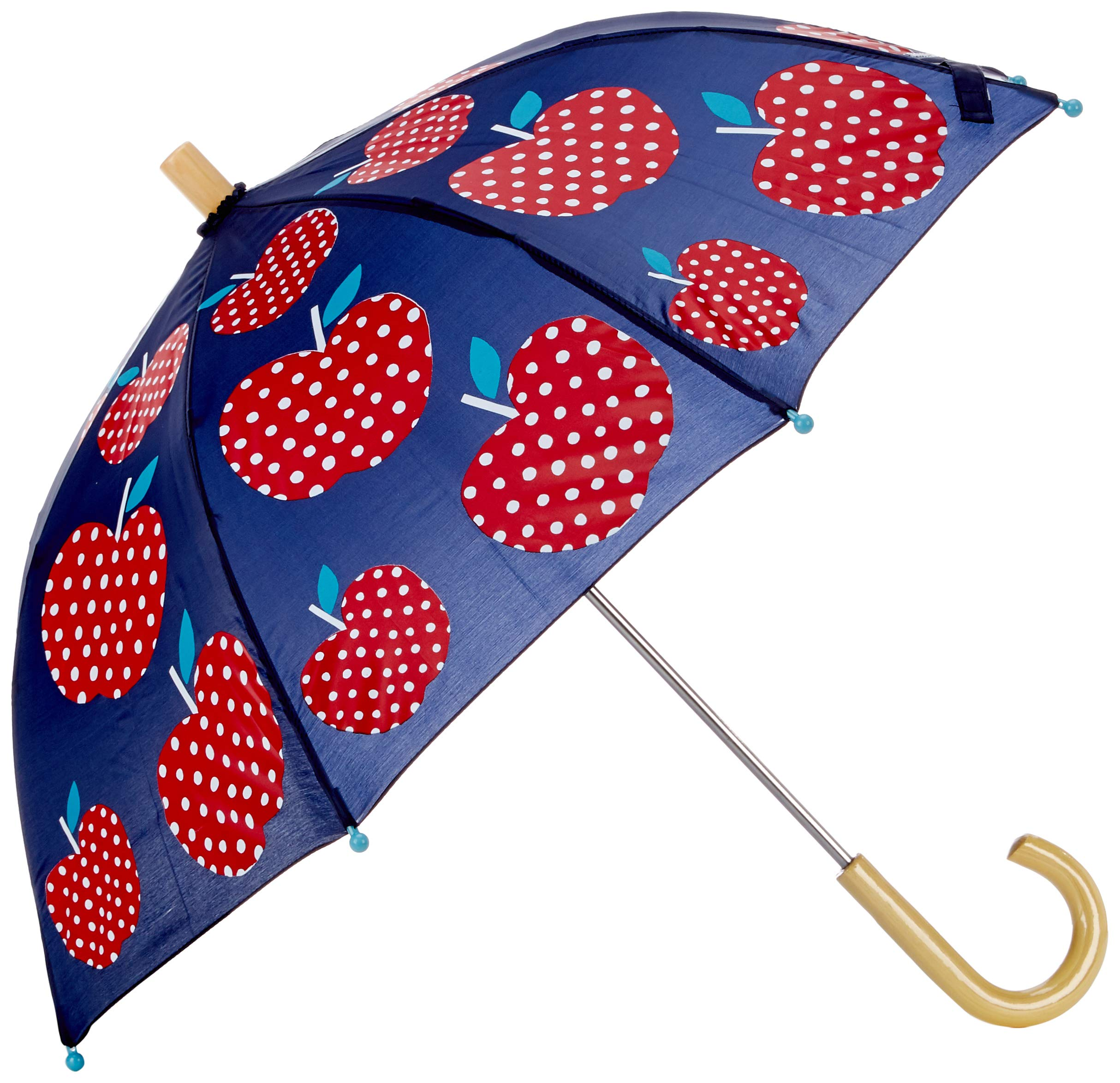 Hatley Girls' Little Printed Umbrellas, Polka Dot Apples One Size