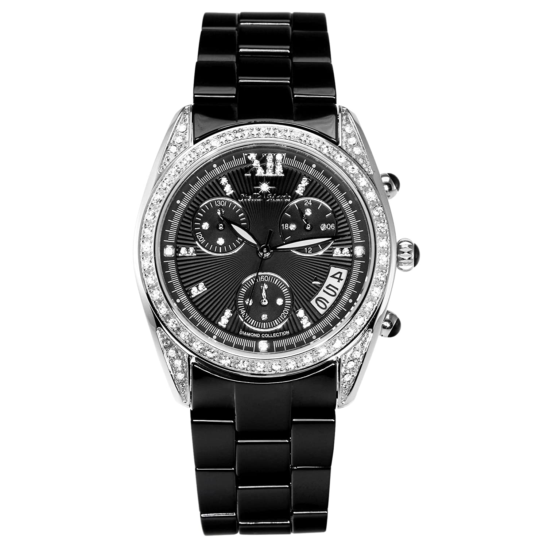 Stella Maris Damen-Armbanduhr Analog Quarz Premium Keramik Diamanten - STM15F2