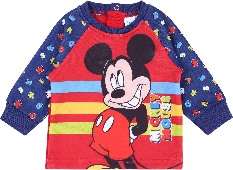 Chándal para bebé de Color Rojo y Azul Marino Mickey Disney 18 ...