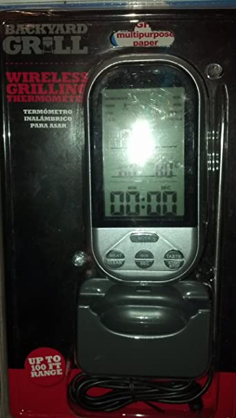 Amazon.com: BACKYARD GRILL WIRELESS GRILLING THERMOMETER - UP TO 100 FT RANGE by Backyard Grill: Kitchen & Dining