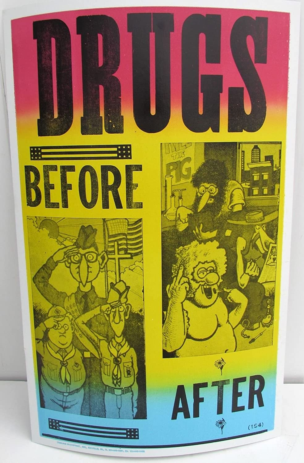Amazon.com: VINTAGE 60S DRUGS BEFORE AFTER POSTER pot weed pothead ...