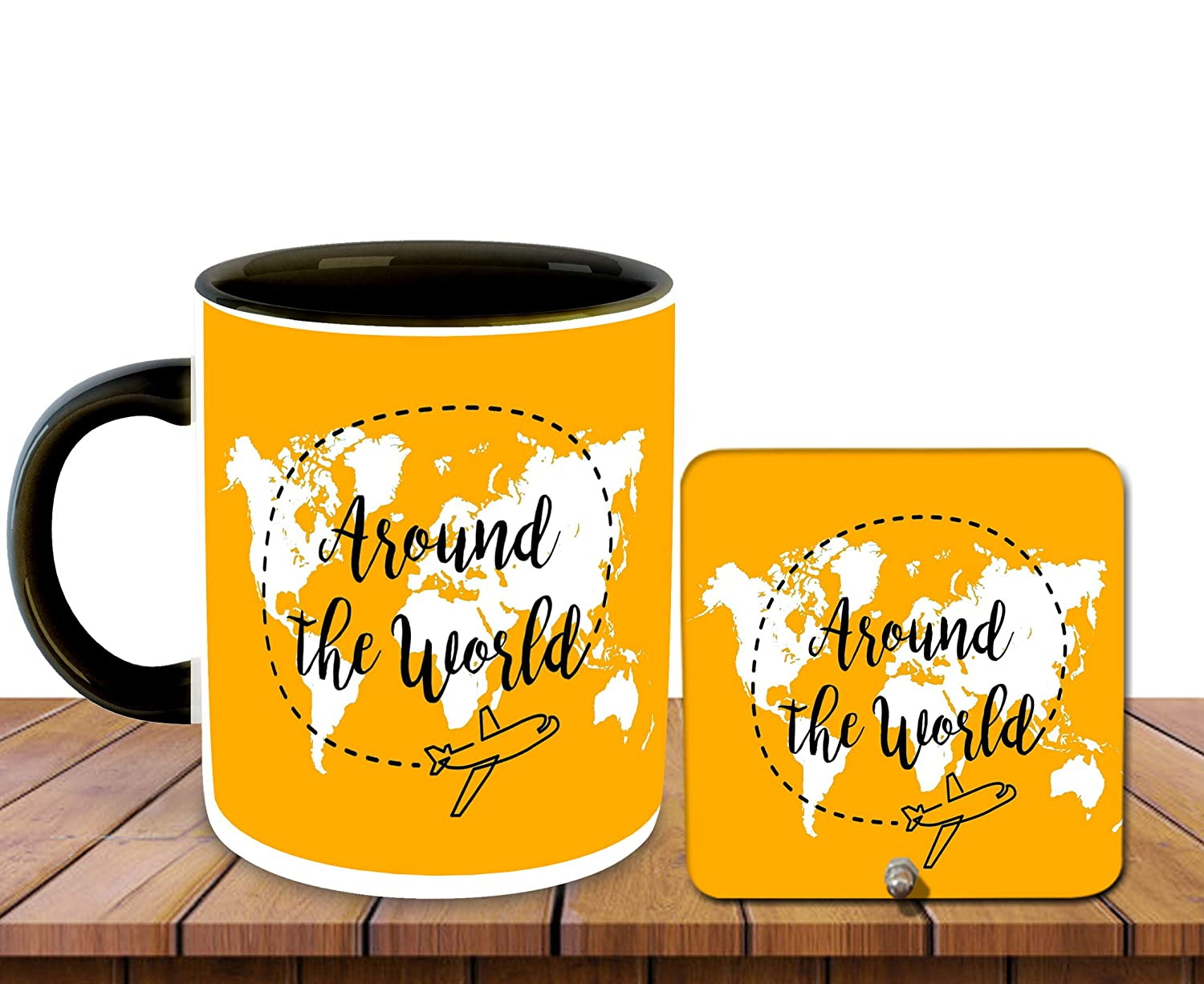 Buy Whats Your Kick Travel Inspiration Printed Black Inner Colour Ceramic Coffee Mug With Desky Travel Quotes World Best Gift Travel Journey Nature Multi 5 Online At Low Prices In India