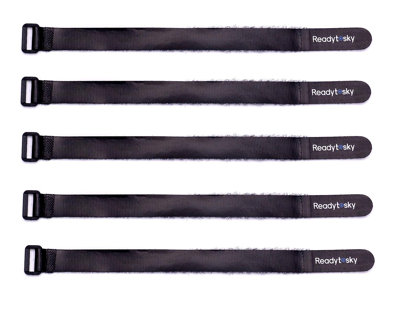 Lipoバッテリーストラップ20 mmx316 mm HDゴム引きレザーノンスリップバッテリータイダウンストラップfor RC Quad飛行機ボート車( 5点) B06Y421LCR