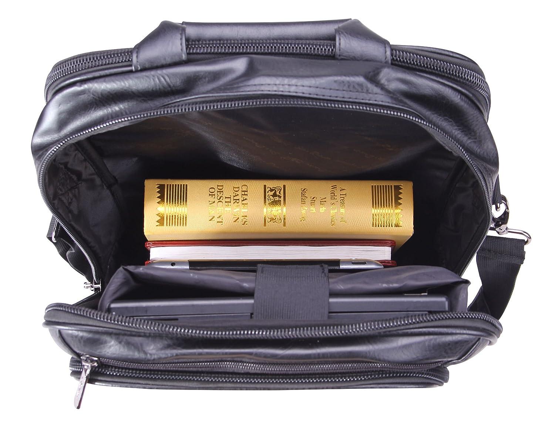 Sac /à bandouli/ère Classique /à bandouli/ère pour 13 Macbook de 15 Pouces POLO VIDENG Sac /à Dos en Cuir portatif 15,6 Pouces S6-Marron Sac Multifonctionnel /à poign/ée de Travail