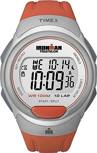 Timex Ironman - Reloj digital de cuarzo unisex con correa de resina, color naranja: Timex: Amazon.es: Relojes