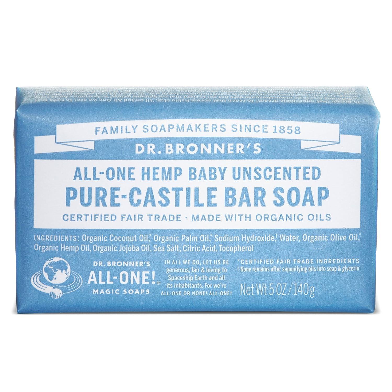 com dr bronner s fair trade organic castile bar soap com dr bronner s fair trade organic castile bar soap baby unscented 2 bars beauty