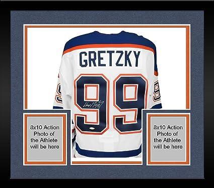 3cba42ce5b8 Framed Wayne Gretzky Edmonton Oilers Autographed White CCM Jersey - Upper  Deck - Fanatics Authentic Certified