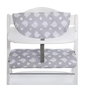 Hauck Alpha Highchair Pad Deluxe Seat Cushion For Wooden Highchair Hauck Alpha Easy Fixing And Cleaning Teddy Grey