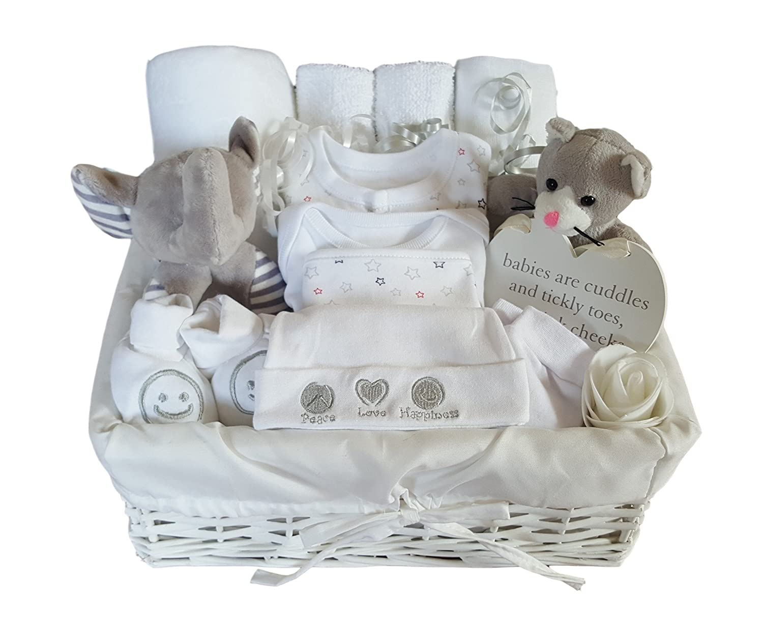 Baby Gift Basket Neutral. Baby Gift Hamper Neutral. Baby Gift Set Neutral. Baby Shower Gift Basket. New Baby Gift. Unisex Baby Gift Basket The Gift Basket Boutique