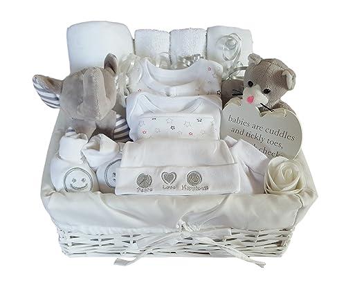 Baby boy hamper gift basket baby shower present amazon baby baby gift basket neutral baby gift hamper neutral baby gift set neutral baby negle Gallery