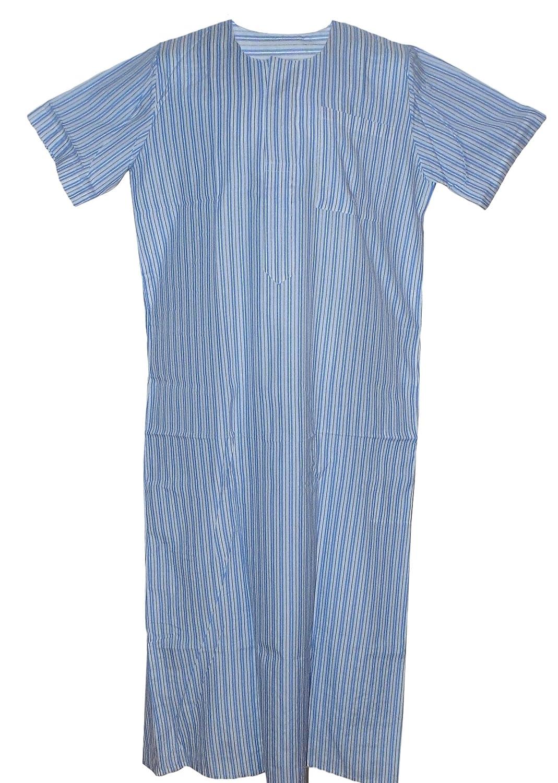 Egypt Mart SLEEPWEAR メンズ B079X4MFMQ X-Large|#4 White& Light Blue Stripes #4 White& Light Blue Stripes X-Large