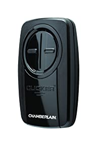 Chamberlain Group KLIK3U-BK Clicker Universal 2-Button Garage Door Opener Remote with Visor Clip, Black