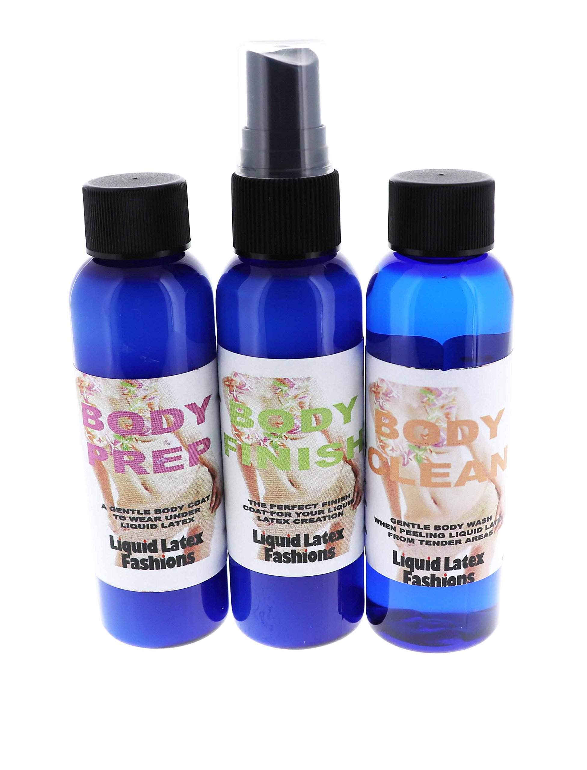 Liquid Latex Fashions Body Prep, Clean and Finishing Spray, 3 Bottles