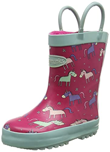 Chipmunks Girls' Angelica Wellington Boots, Pink (Pink Multi), 7 Child UK