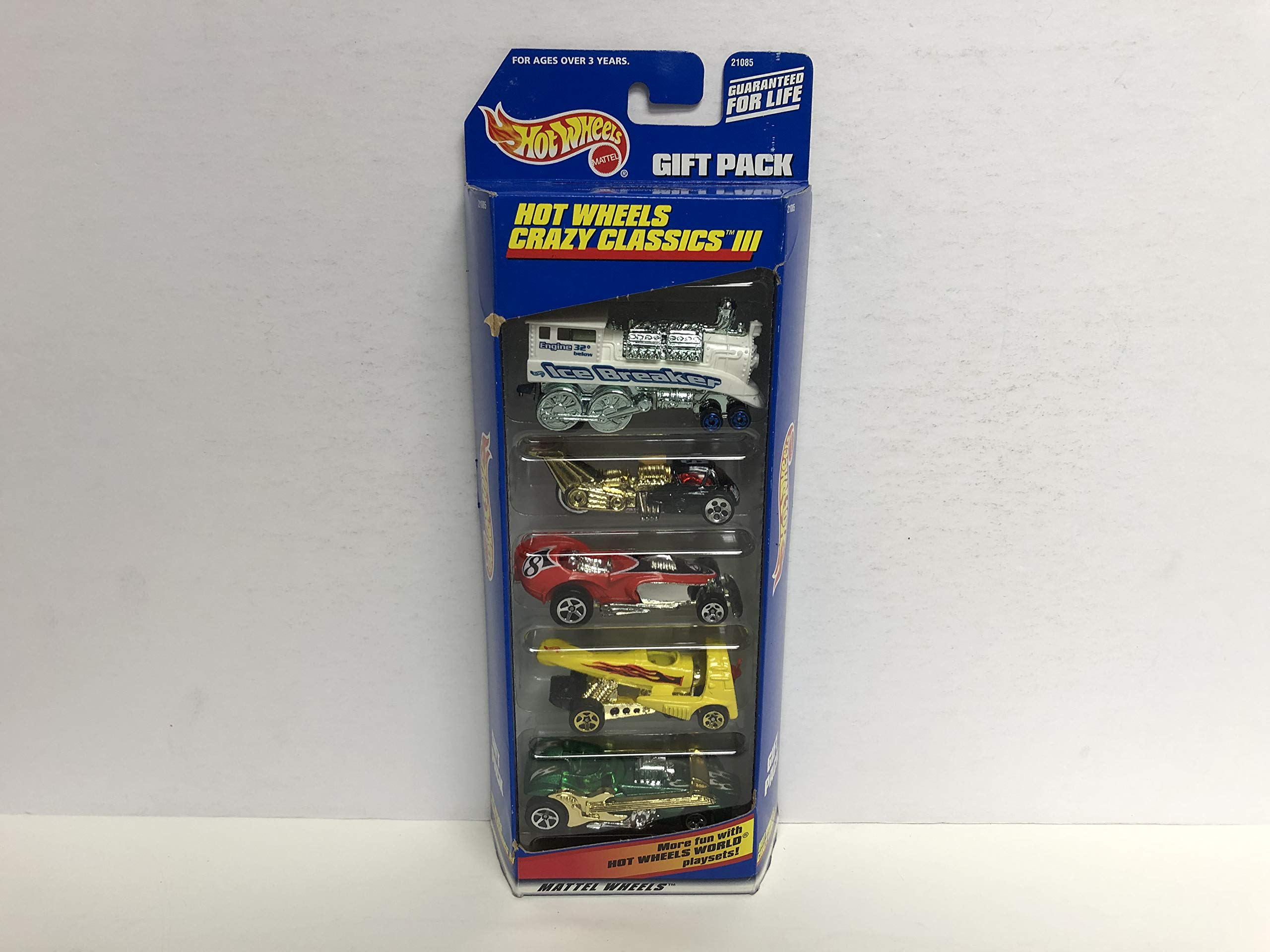 1998 Hot Wheels diecast car HOT WHEELS CRAZY CLASSICS III 5 CAR Gift Pack #21085