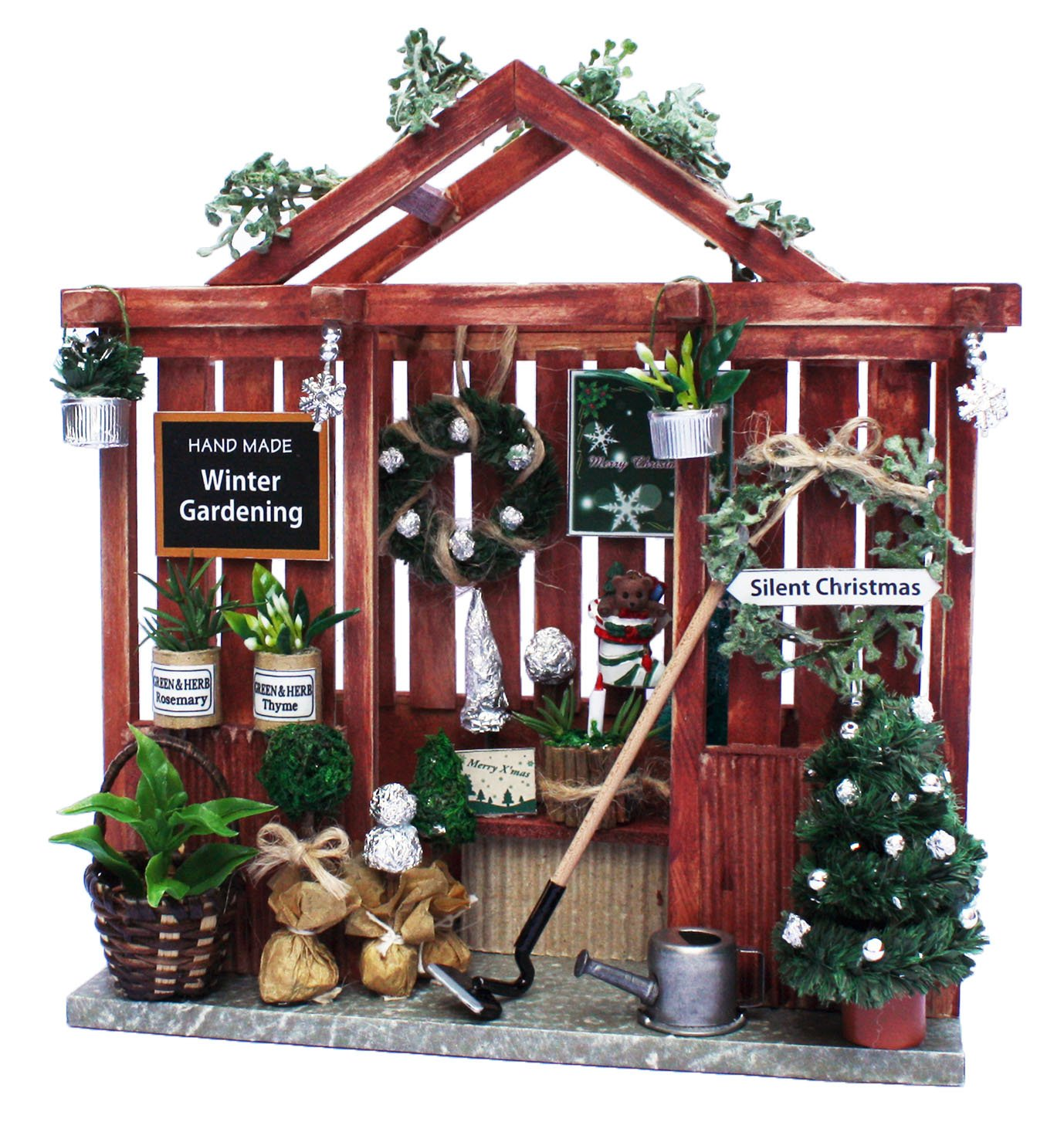 Billy handmade Dollhouse Kit Kit di Natale Garden House 8430 (japan import)