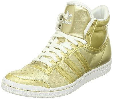 adidas Originals Top Ten Hi Sleek W, Baskets mode femme, Or (G64573)