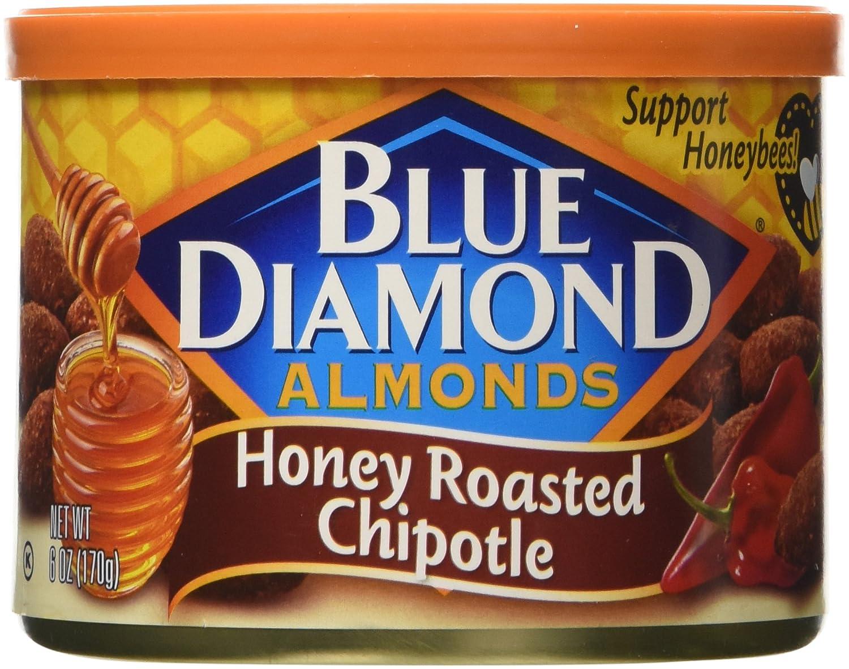 amazon com blue diamond almonds honey roasted chipotle 6 ounce
