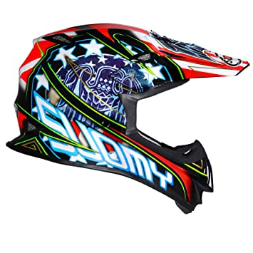 Suomy Casco Motocross MR Jump Eagle, Multicolor (Eagle Black), XS