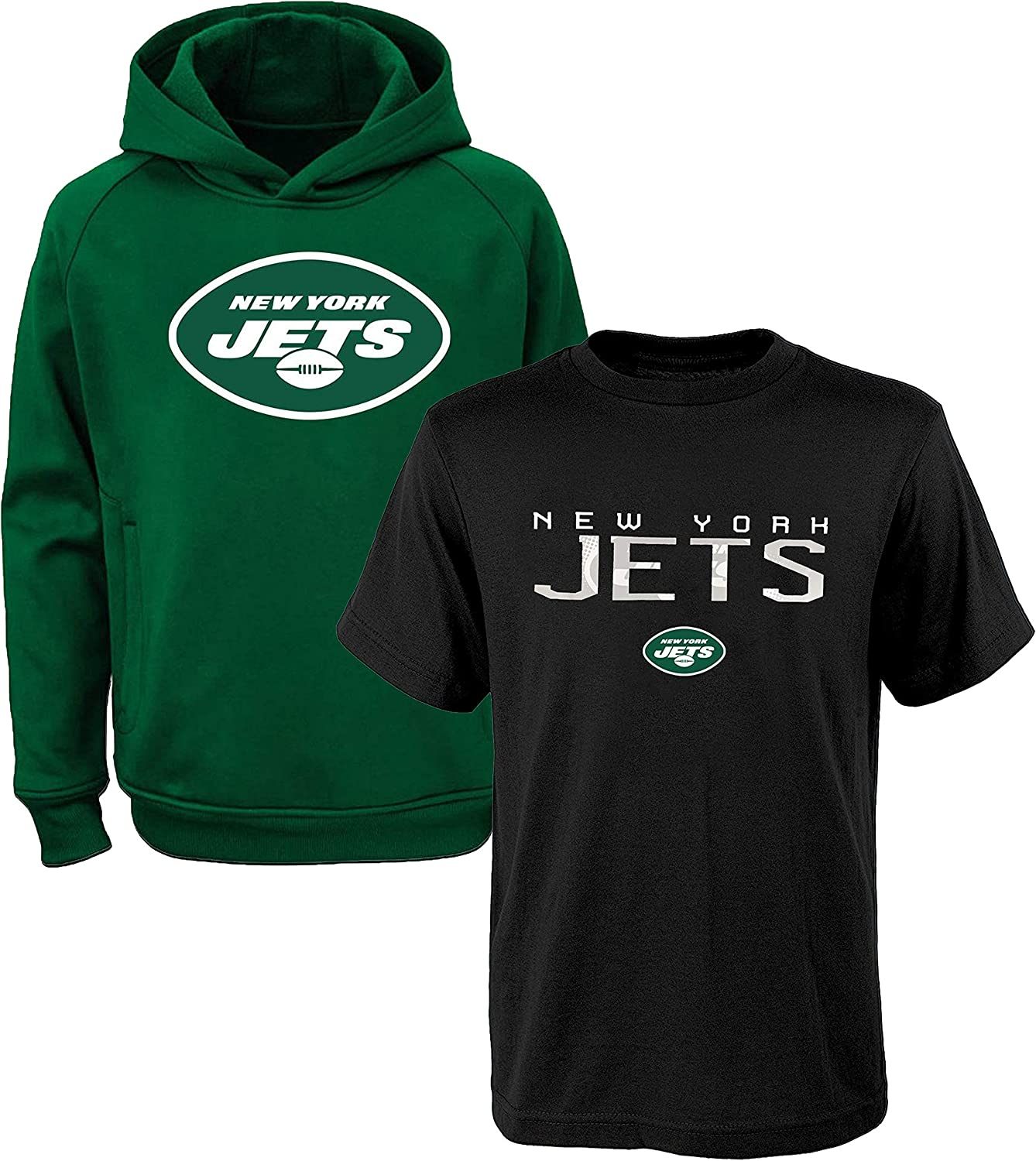 NFL Youth 8-20 Polyester Performance Primary Logo Hoodie & T-Shirt 2 Pack Set
