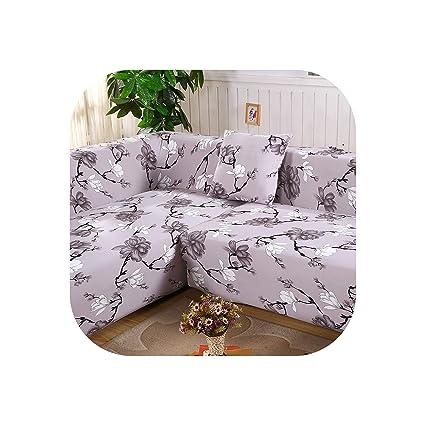 Amazon.com: 2 Pieces Covers for Corner Sofa Chaise Longue ...