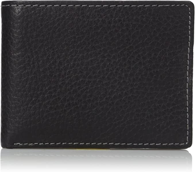 New Buxton High Quality Leather Men/'s Metropolis Threefold Wallet