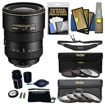 【クリックでお店のこの商品のページへ】Nikon 17???55?mm f/2.8?G DX af-s ed-if Zoom - Nikkorレンズwith 3?UV/CPL/nd8?& 4マクロフィルタセット+スリングストラップキットfor d3200、d3300、d5300, d5500、d7100、d7200カメラ
