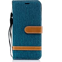 Samsung Galaxy J6 / Galaxy On6 Case, Lomogo Leather Wallet Case with Kickstand Card Holder Shockproof Flip Case Cover for Samsung Galaxy J6 / On 6 2018 - LOBFE12139 Green