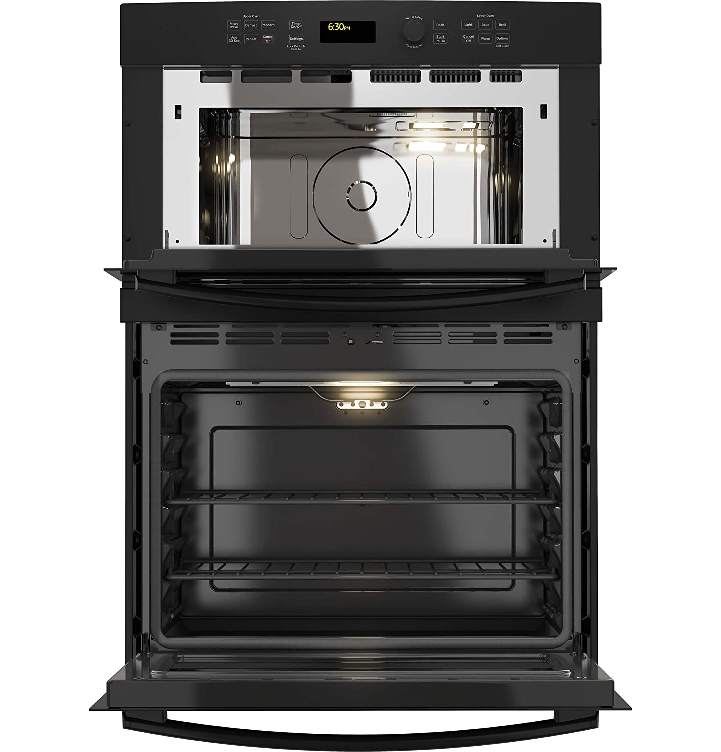 GE JT3800DHBB 30 Black Electric Combination Wall Oven