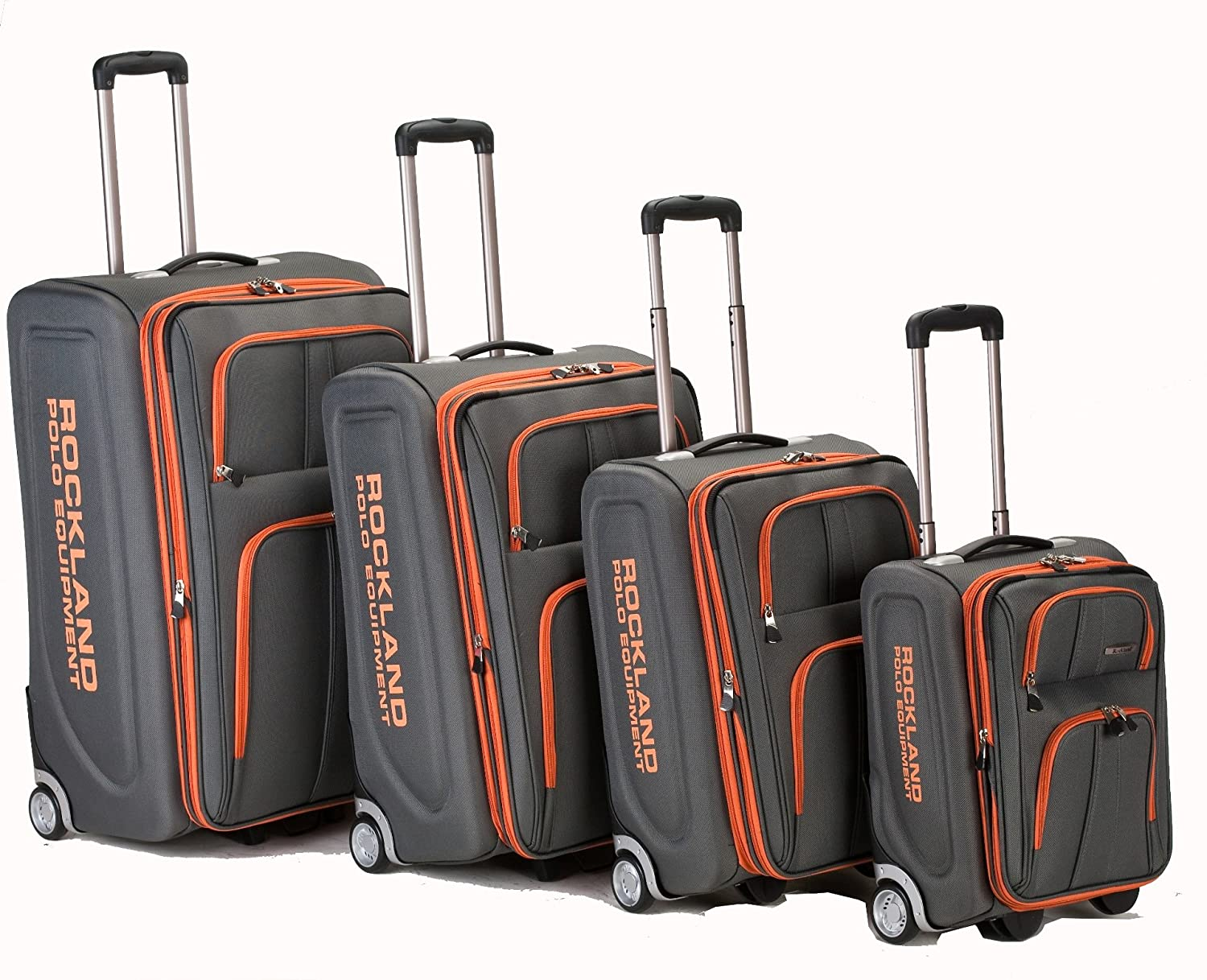 Amazon.com | Rockland Luggage Varsity Polo Equipment 4 Piece ...