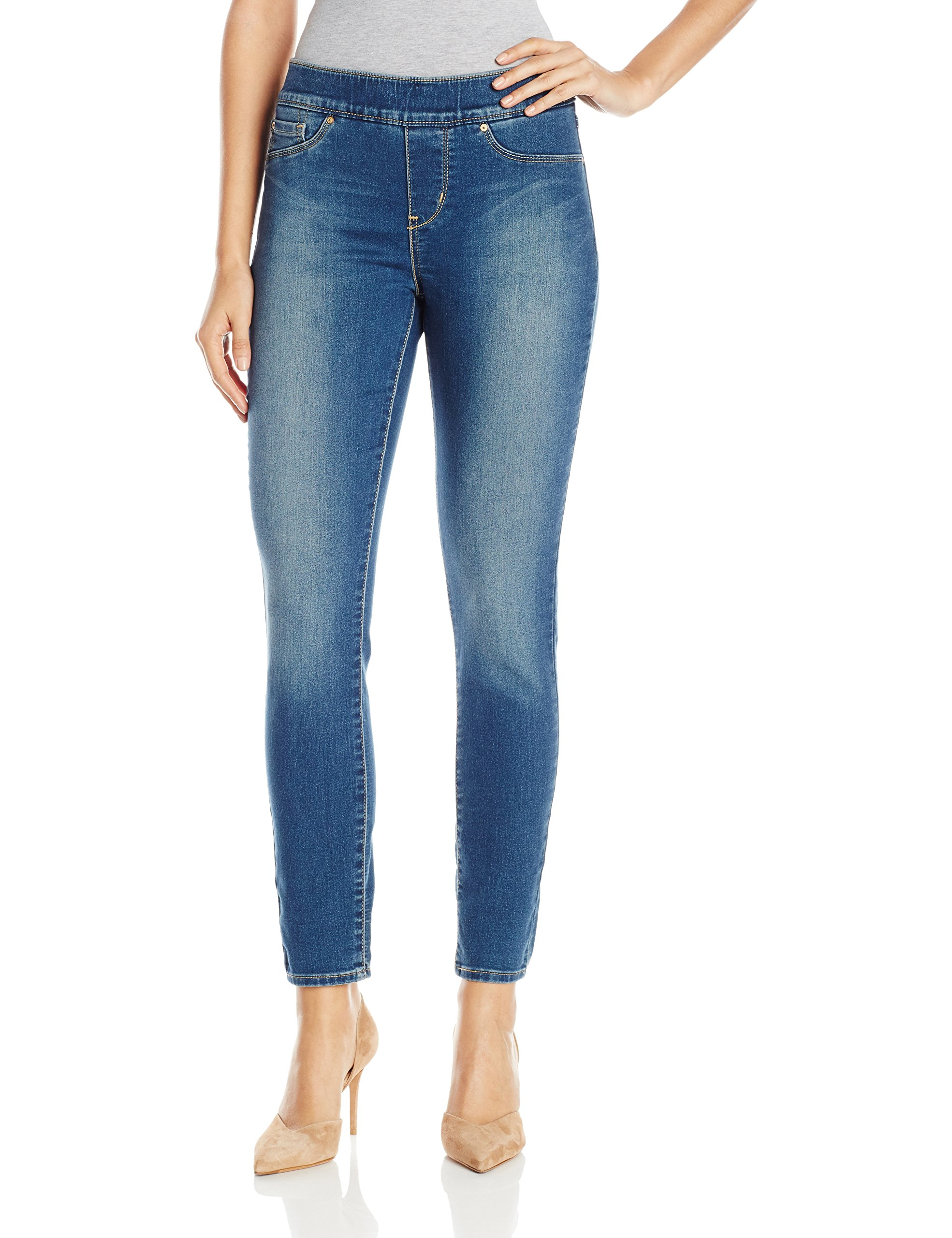 Signature by Levi Strauss & Co Women's Totally Shaping Pull On Skinny Jeans, Harmony, 14 Medium