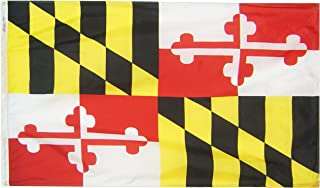 product image for Annin Flagmakers Model 142360 Maryland State Flag 3x5 ft. Nylon SolarGuard Nyl-Glo 100% Made in USA to Official State Design Specifications.
