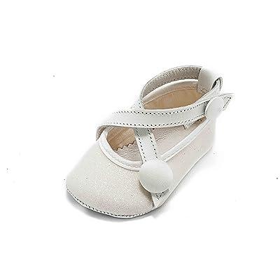ABA Ballerina, Chaussures Souples pour Bébé (Fille) Blanc Bianco