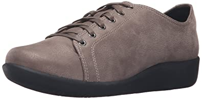 Clarks Women's Sillian Glory Lace Up Casual Shoe Silver 6 ...