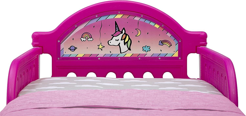Delta Children Rainbow Dreams Lit pour Enfant avec Bedguard
