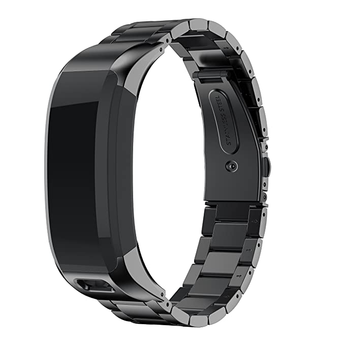 NotoCity Edelstahl Uhrenarmband Kompatibel mit Garmin Vívosmart HR Armband Verstellbarer Metall Link Tracker Unisex