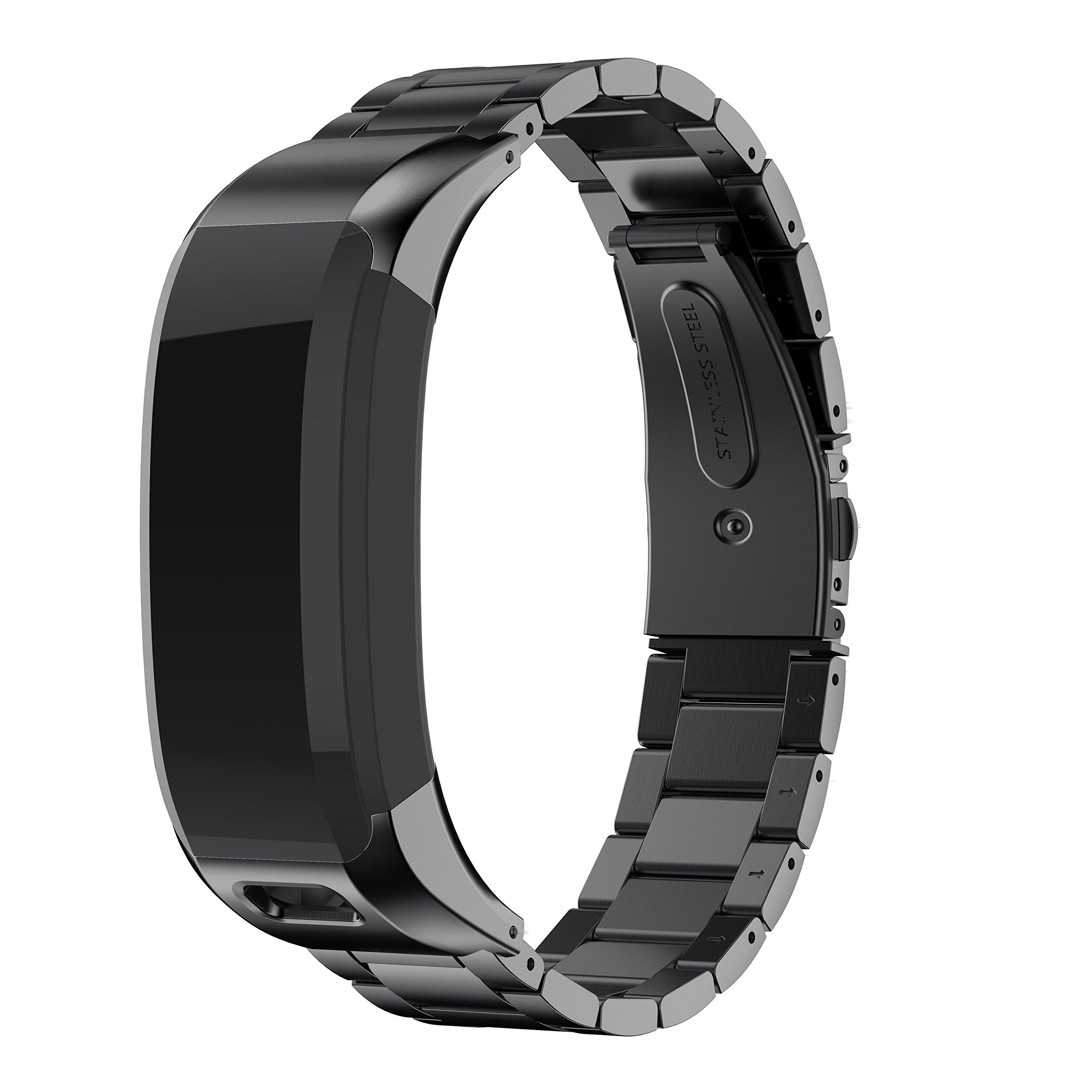 ANCOOL Garmin Vivosmart HR watch band, smart watch accessory stainless steel replacement braceklet unique high grade watch decor band metal straps for Garmin Vivosmart (NOT for Vivosmart HR+)