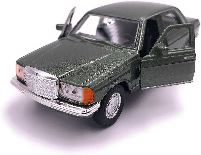 H-Customs Welly Mercedes Benz E-Klasse E-Klasse W123 Modellauto Auto LIZENZPRODUKT 1:34-1:39 Gr/ün