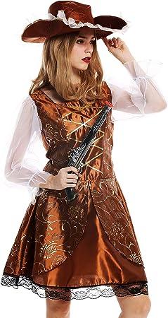 dressmeup - W-0041-M/L Disfraz Mujer Feminino Pirata flibustera ...